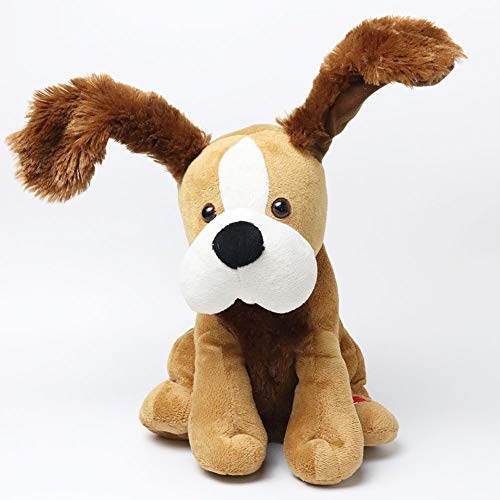 LAKI HOME 11' Animated Funny Interactive Stuffed Puppy Dog, Stuffed Animal Plush, Singing Puppy,Brown, Longer and Bigger Ears..