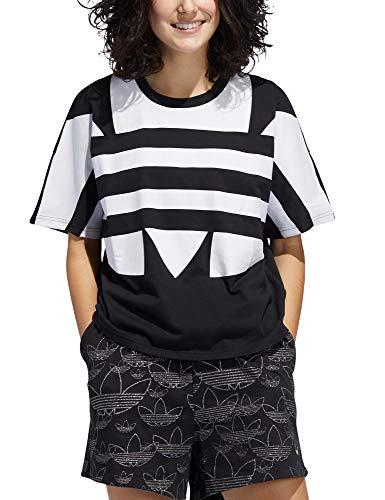 adidas LRG Logo Tee T-Shirt, Donna, Black/White, 38