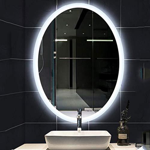 Wandspiegel Badspiegel Oval leuchtende LED-Badezimmer-Spiegel-Wand Badezimmer Rasierspiegel mit Draht Hexe, 5mm Umweltschutz ohne Kupfer Spiegel, Modern Badezimmer Rasierspiegel