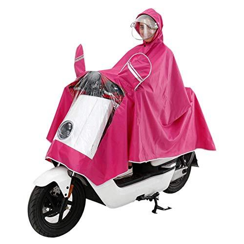 LLVV Regenjas Verdikte Waterdichte Regenjas Elektrische Motorfiets Volwassen Dubbele Hoed Poncho Mannelijke en Vrouwelijke Enkele Helm Masker Regenjas