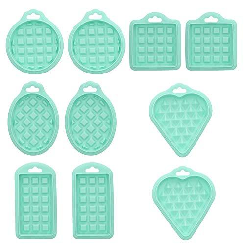 Molde Gofres Silicona 10 piezas, Galletas para Tarta Muffin Cocina Herramientas para hornear suministros