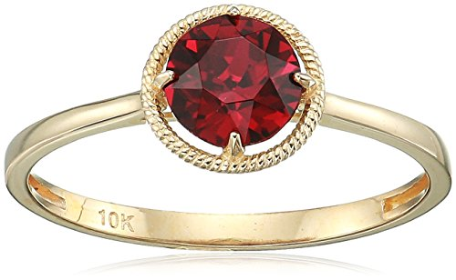 10k Gold Swarovski Crystal July Birthstone Ring, Size 8