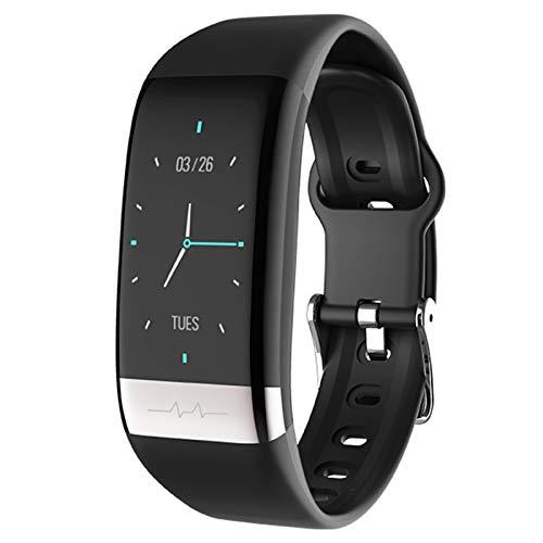 LTLJX Inteligente Reloj,Pulsera de Actividad Monitores Pulsómetro Fitness Tracker, Pulsera Smartwatch con 0.96 Pantalla a Color Podómetro con iOS y Android,Impermeable IP67,Negro