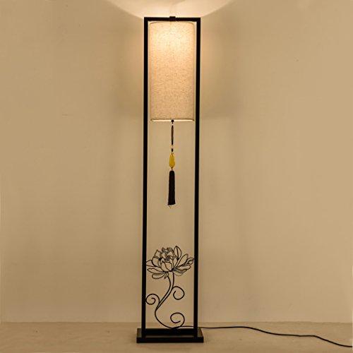 Ywyun Lampe de table verticale moderne de chevet de LED, lampe de plancher d'étude de salon de chambre à coucher de la maison chinoise de fer