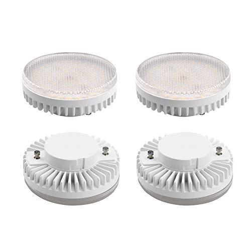 Bonlux 10W Gx53 Ampoule LED super brillante 1000lm lampe Blanc Froid 6000K équivalent à l'ampoule halogène 100W pour l'éclairage sous le coffret et le compteur, les étagères, etc (4pcs, Non-Dimmable)