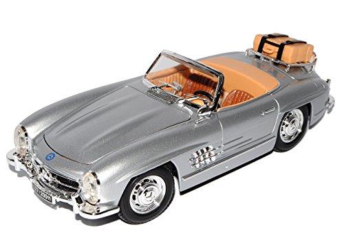 Bburago Mercedes-Benz 300SL Touring Roadster Cabrio Silber W198 1954-1963 18-12049 1/18 Modell Auto