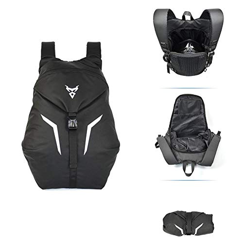 Mochila para casco de motocicleta Soporte para casco de motocicleta impermeable de...