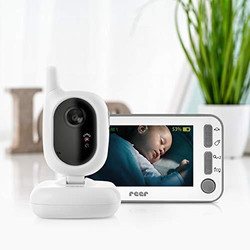reer 80430 BabyCam Video Babyphone L, 300m Reichweite, 50 Grad Weitwinkel-Kamera, 4,3