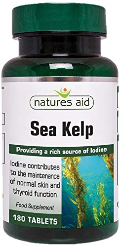 Natures Aid Kelp with Calcium Tablets 187mg Pack of 180