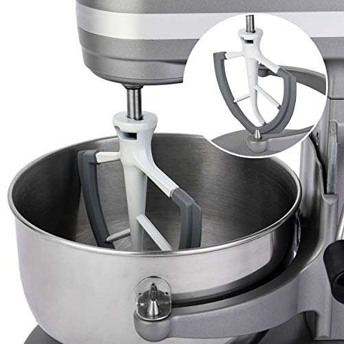 Flex Edge Beater for KitchenAid Bowl-Lift Stand Mixer - 6 Quart Flat Beater Blade with Flexible Silicone Edges