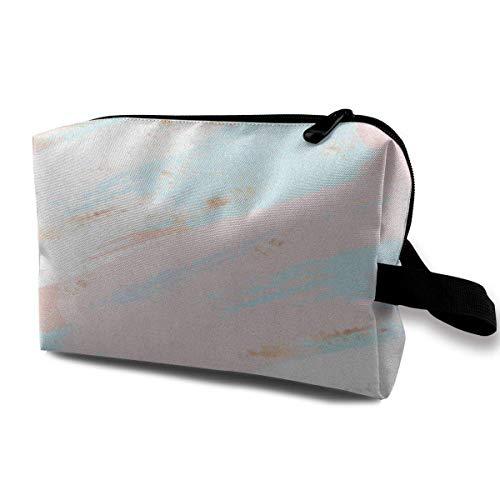 DJNGN Make-up-Taschen für Frauen, Reise-Make-up-Tasche, kleine Kosmetiktasche Pink Pattern Abstract...