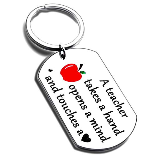 Teacher Appreciation Gifts Keychain Thank You Graduation for Teachers Women Men Him Her Teachers Day from Students Birthday Back to School Pendant Valentines Gifts Key Ring Christmas