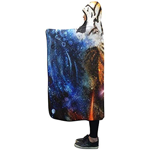 Henry Anthony Mit Kapuze Decke Malerei Tiger Collage auf Drop Spot Decke 50 x 40 Zoll Comfotable Hooded Throw Wrap