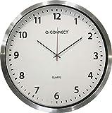 Reloj Q-Connect De Pared Plástico Redondo 60 Cm Marco Cromado