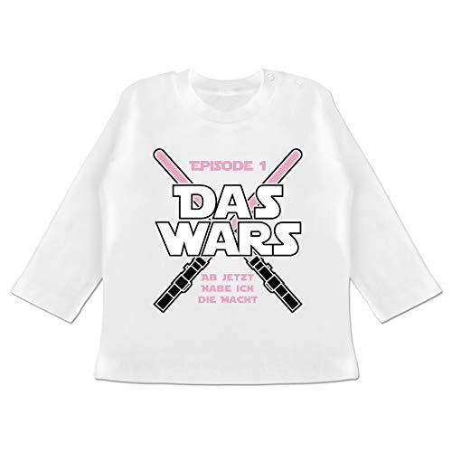 Zur Geburt - Das Wars Jetzt Habe ich die Macht Mädchen - 3/6 Monate - Weiß - Geschenke zur Geburt für mädchen - BZ11 - Baby T-Shirt Langarm