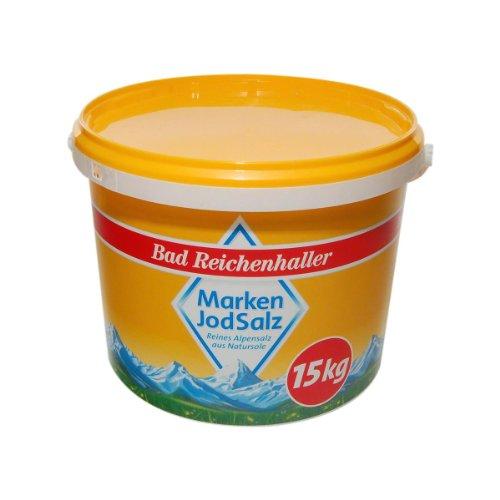 Bad Reichenhaller Marken Jodsalz, 1 x 15 kg Eimer