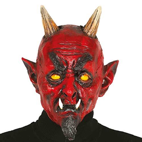 Guirca Lattice Diavolo Maske Rot 2382