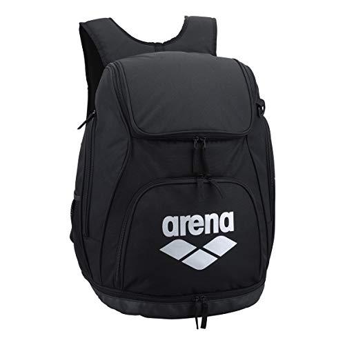arena(アリーナ) プールバッグ 水泳用 リュック AEANJA01 ブラック × シルバー F