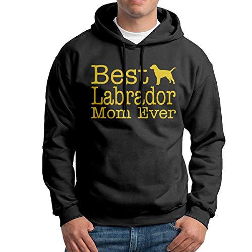 Best Labrador Lab Mom Ever Men's Fleece Pullover Hoodie Sweatshirt