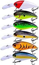 Facikono Crankbait Bass Fishing Lures, Topwater Hard Swimbait for Bass Trout Crappie Saltwater Freshwater Fishing
