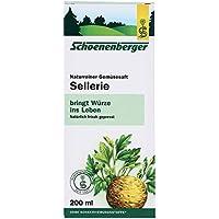 Salus 100% jugo orgánico fresco puro de la planta del apio orgánico 200 ml (paquete de 1)