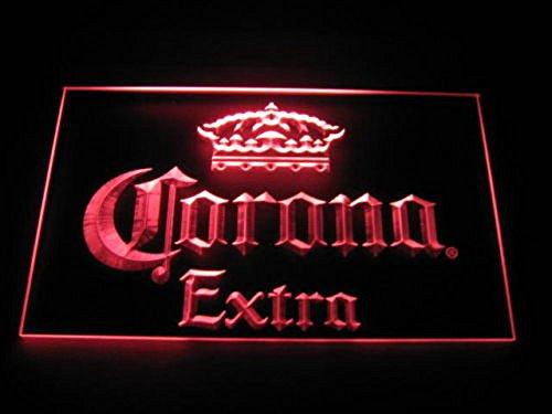Corona Extra LED Zeichen Werbung Neonschild Rot
