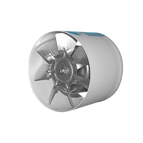 Yuhong-Vents Ventilación Booster, Salida de Aire, Zona de tuberías de baño Cocina Extintor, de 4 Pulgadas, en línea Ronda de...