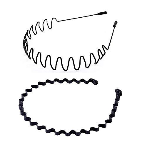 UTOMAG Metall Haarband für Herren und Damen – Rutschfestes Elastisches Stirnbänder Haarbänder Haarreifen Haarschmuck Anti Rutsch Stirnband Zubehör für Outdoor Sport, Yoga, Radfahren, Laufen