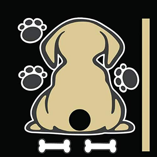 DishyKooker XuBa Autosticker Funny Dog Auto Sticker Moving Tail reflecterende auto ruitenwisser Decals R679 Yellow Dog