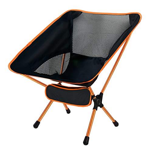 Ledeak Silla de Camping Plegable, Ultraligero Portátil Silla Playa con Bolsa de Transporte, Fácil de Llevar Ideal para Senderismo Pesca Acampar Barbacoa Viaje Jardin
