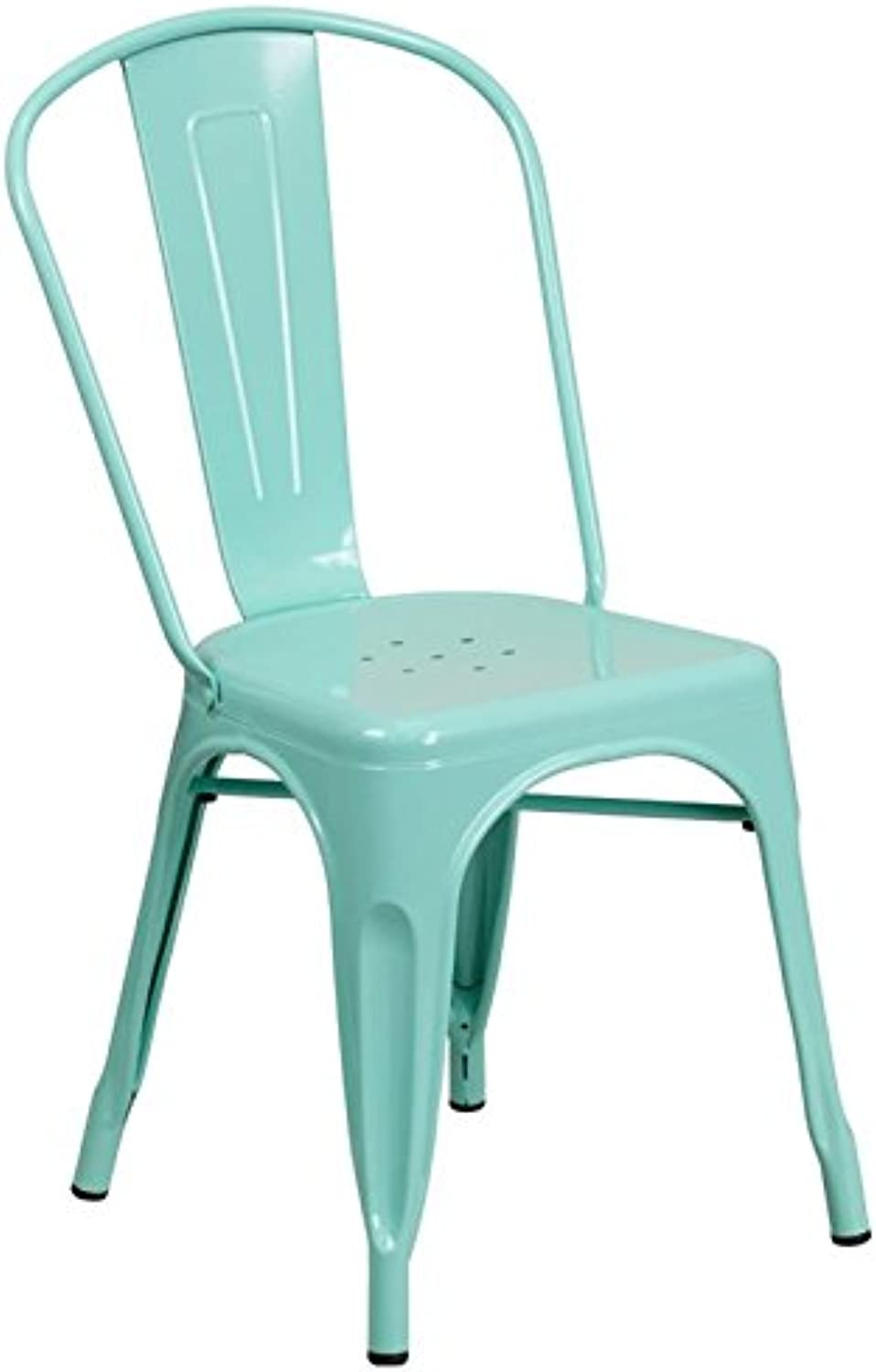Bowery Hill Metal Dining Chair in Mint Green