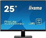 iiyama XU2595WSU-B1 Monitor IPS LED 63.36 cm, 25 pulgadas, WUXGA 16:10 (VGA, HDMI, DisplayPort, USB2.0, Ultra-Slim-Line), Negro Mate