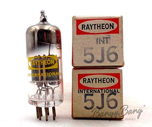 Review Of 2 Vintage Raytheon 5J6 Twin Triode Radio Amp. Oscillator Mixer Valve- BangyBang Tubes