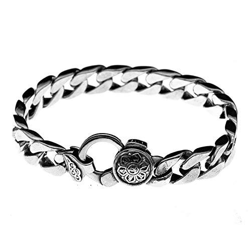 Pulsera Plata 925 Hombre Vintage Personalizado Clásico Idea Regalo para Niño Bracelet Día De Padre para Aniversario Hombre Regalo