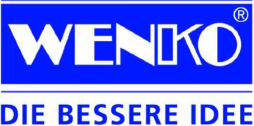 Wenko Porta Asciugamani e Appendiabiti Style, a Gradini, 2 Aste, Base, Acciaio, Vetro Temperato, 20 x 82 x 46 cm, Satinato, Bianco