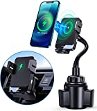 15W Wireless Car Charger Mount, Smart Cup Phone Holder Mount, Qi Fast Charging Auto Clamping Vent Car Mount for Cell Phone Fit for iPhone 12 Pro Max/12 Mini/12 Pro/12/11 Pro/XS/8/7, Samsung S10/S9 etc