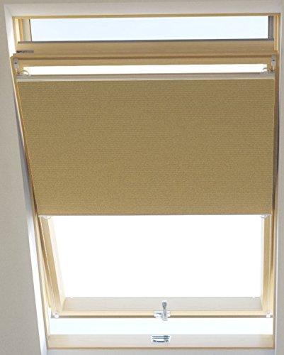 Vidella Dachfenster Thermoplissee thermolux universal passend 55 cm, beige, HCB-4 55