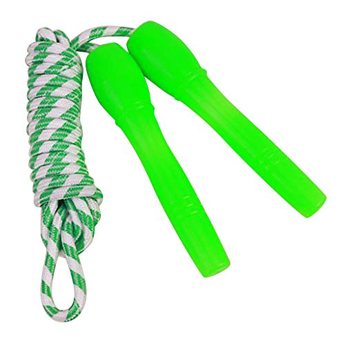 2.4M Children Skiping Rope Weavon Ropes Adjustable Lightweight Durable Practical Jump Rope Indoor Fitness Equipment 5 Colors -GN