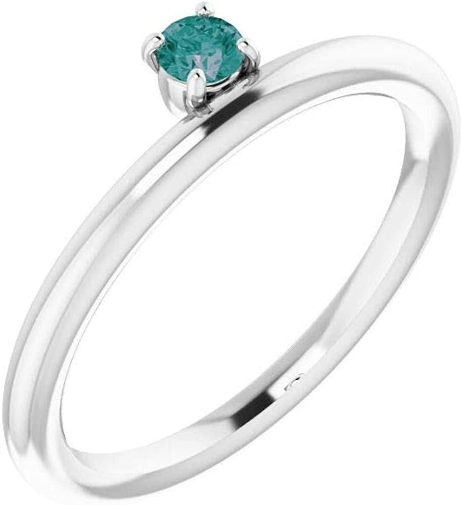 Solitaire Diamond Stackable Wedding Anniversary Ring Band