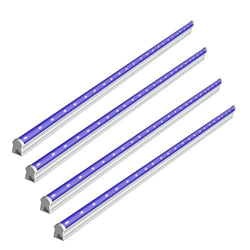 BRTLX Tube LED Lumière Noire, 4 Barres LED UV 6W Portable Ba