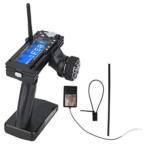 GOTOTOP RC Fernsteuerung, 3 Kanal 2,4GHz AFHDS RC Sender Transmitter mit RC Empfänger für RC Auto Boot