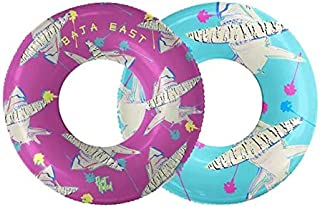 Float Naked | Pool Tubes with Fun Prints | Celebrity-Approved Tubes for Floating | Fun Swim Floaties for Adults | Great Inner Tube Pool Floaty for All Ages | Inflatable Water Float - Shark 2-in-1