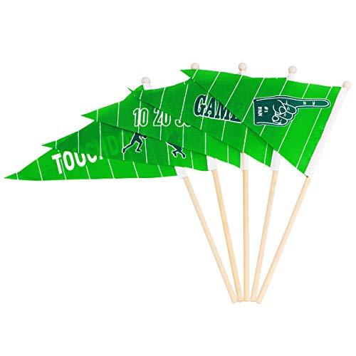 BESTOYARD 30 stücke Fußball Stick Flaggen Mini Fußball Flaggen auf Sticks Hand für Festival Decoraion