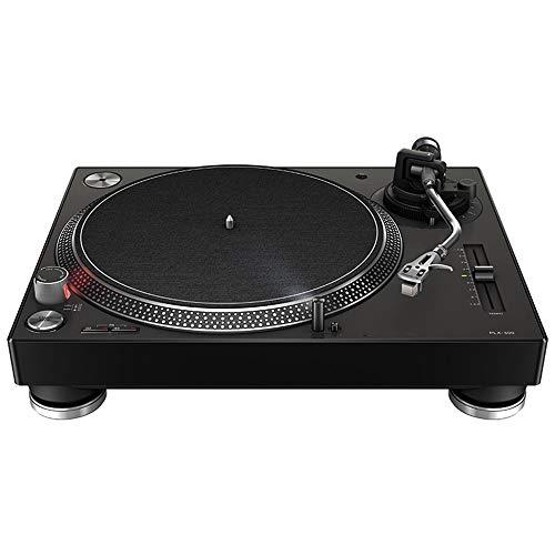 Wanlianer, tragbarer Schallplattenspieler, kompakter Vinyl-Player mit Staubschutz, kann über Bluetooth mit dem Computer verbunden werden, Aluminiumlegierung, Schwarz , 45x37x16cm