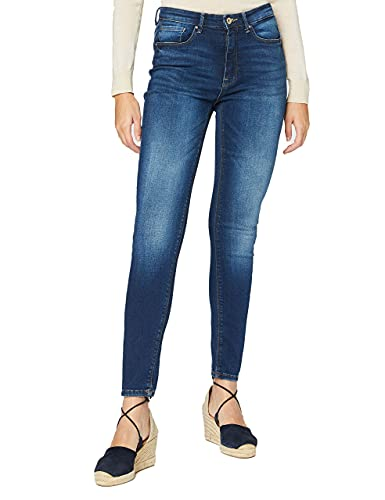 Only ONLPAOLA Life HW SK BB AZG870 Jeans, Dark Azul Denim, 32 M para Mujer