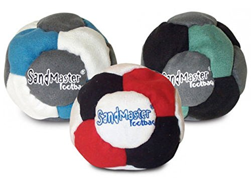 World Footbag SandMaster Hacky Sack Footbag, 3 Pack, Multicolor