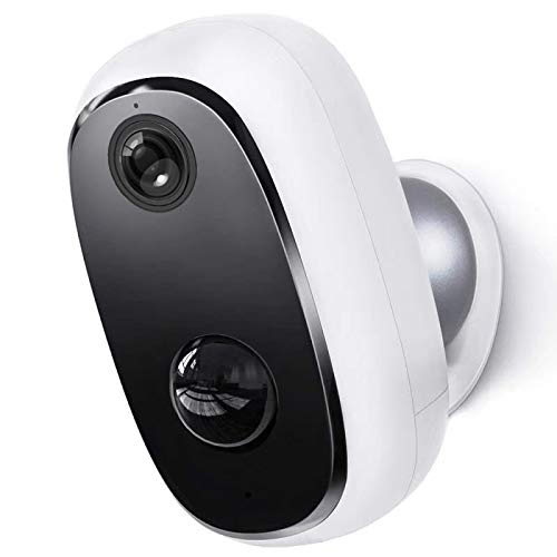 Konyks Cámara WiFi Camini GO para exteriores, batería recargable, 1080p Full HD, IP65 impermeable, visión nocturna, audio bidireccional, compatible con Google Chromecast y Alexa Echo Show