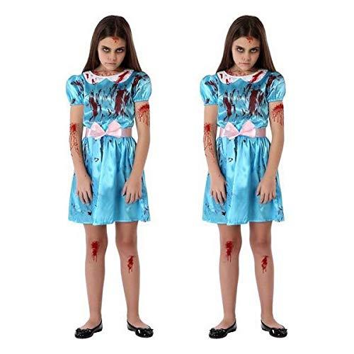 Atosa-65829 Costume da bambina Sinestre, da donna, 65829, Blu, 5-6 anni