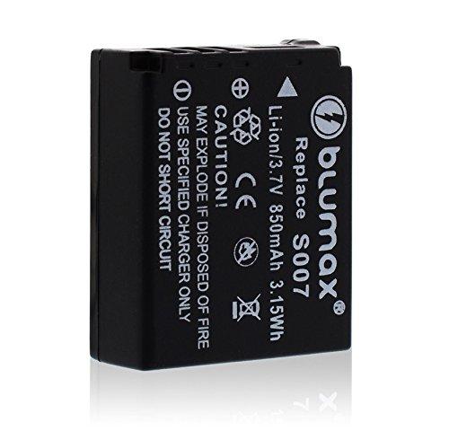 Blumax CGA-S007E CGA-S007S007E S007850mAh, 3,7V Power Pack de batería de repuesto para Panasonic Lumix DMC-TZ1DMC-TZ11DMC-TZ15DMC-TZ2DMC-TZ3DMC-TZ4DMC-TZ5DMC-TZ50