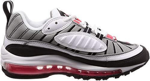 Nike Damen W Air Max 98 Gymnastikschuhe, Weiß (White/Solar Red/Dust/Reflect Silver 104), 36 EU